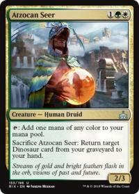 magic the gathering rivals of ixalan atzocan seer 153 196