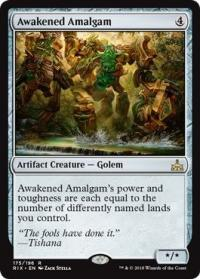 magic the gathering rivals of ixalan awakened amalgam 175 196