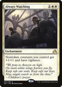 magic the gathering shadows over innistrad always watching foil