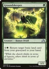 magic the gathering shadows over innistrad groundskeeper 208 297