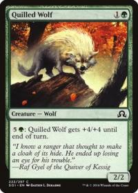 magic the gathering shadows over innistrad quilled wolf 222 297