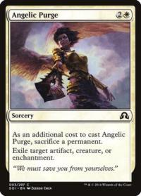 magic the gathering shadows over innistrad angelic purge foil