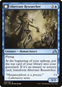 magic the gathering shadows over innistrad aberrant researcher foil