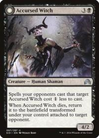 magic the gathering shadows over innistrad accursed witch foil