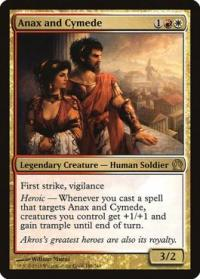 magic the gathering theros anax and cymede 186 249