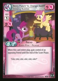 my little pony defenders of equestria berry punch orange swirl drinking buddies