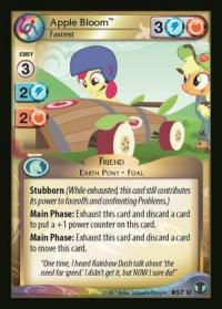 my little pony defenders of equestria apple bloom fastest