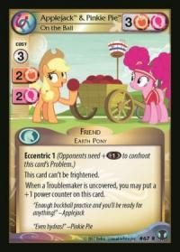 my little pony defenders of equestria applejack pinkie pie on the ball