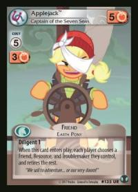 my little pony defenders of equestria applejack captain of the seven seas