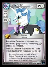 my little pony high magic fancy pants respected aristocrat