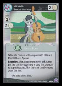 my little pony mlp promos octavia serious musician foil