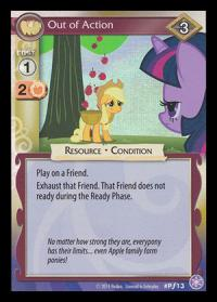 my little pony mlp promos out of action foil