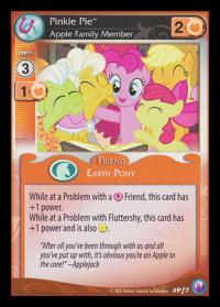 my little pony mlp promos pinkie pie apple family member foil