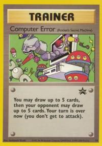 pokemon 1wizards of the coast promos computer error 16