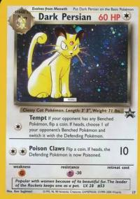 pokemon 1wizards of the coast promos dark persian 17