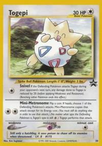 pokemon 1wizards of the coast promos togepi 30