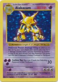 pokemon base set shadowless alakazam 1 102 shadowless
