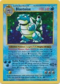 pokemon base set shadowless blastoise 2 102 shadowless