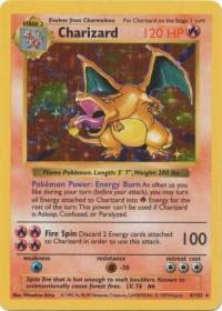 pokemon base set shadowless charizard 4 102 shadowless