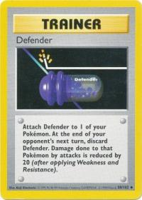 pokemon base set shadowless defender 80 102 shadowless