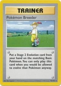 pokemon base set shadowless pokemon breeder 76 102 shadowless