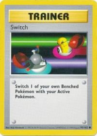 pokemon base set shadowless switch 95 102 shadowless