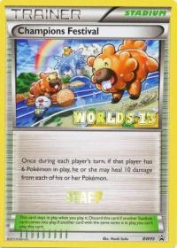 pokemon black white promos champions festival bw95 staff worlds 13 promo