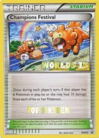 pokemon black white promos champions festival bw95 top sixteen worlds 13 promo