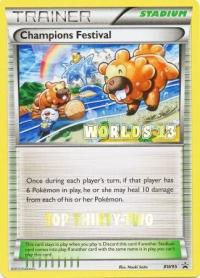 pokemon black white promos champions festival bw95 top thirty two worlds 13 promo