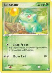 pokemon ex firered leafgreen bulbasaur 54 112