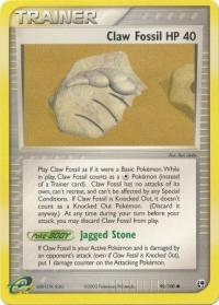 pokemon ex sandstorm claw fossil 90 100