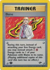pokemon gym challenge 1st edition blaine 100 132 1st edition