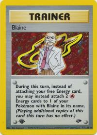pokemon gym challenge 1st edition blaine 17 132 1st edition