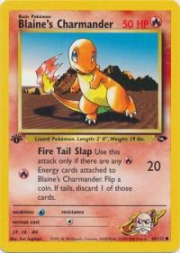 pokemon gym challenge 1st edition blaine s charmander 60 132 1st edition