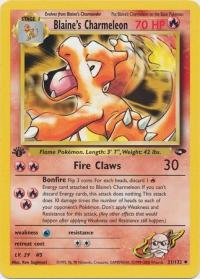 pokemon gym challenge 1st edition blaine s charmeleon 31 132 1st edition