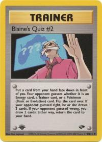 pokemon gym challenge 1st edition blaine s quiz 2 111 132 1st edition