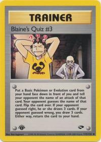 pokemon gym challenge 1st edition blaine s quiz 3 112 132 1st edition