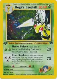 pokemon gym challenge 1st edition koga s beedrill 9 132 1st edition