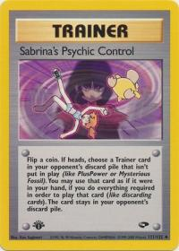 pokemon gym challenge 1st edition sabrina s psychic control 121 132 1st edition