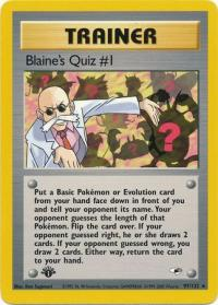 pokemon gym heroes 1st edition blaine s quiz 1 97 132 1st edition