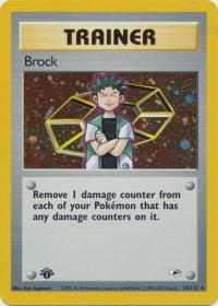 pokemon gym heroes 1st edition brock 15 132 1st edition