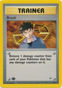 pokemon gym heroes 1st edition brock 98 132 1st edition