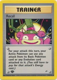 pokemon gym heroes 1st edition recall 116 132 1st edition
