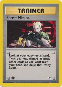 pokemon gym heroes 1st edition secret mission 118 132 1st edition