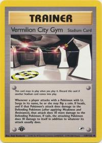 pokemon gym heroes 1st edition vermilion city gym 120 132 1st edition