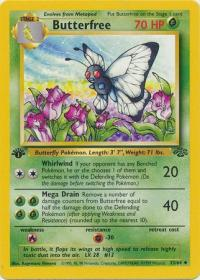 pokemon jungle 1st edition butterfree 33 64 1st edition
