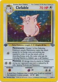 pokemon jungle 1st edition clefable 1 64 1st edition