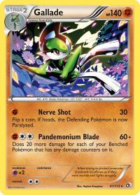 pokemon legendary treasures gallade 81 113