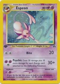 pokemon neo discovery 1st edition espeon 1 75 1st edition