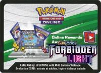 pokemon online tcg codes sm forbidden light online virtual code card